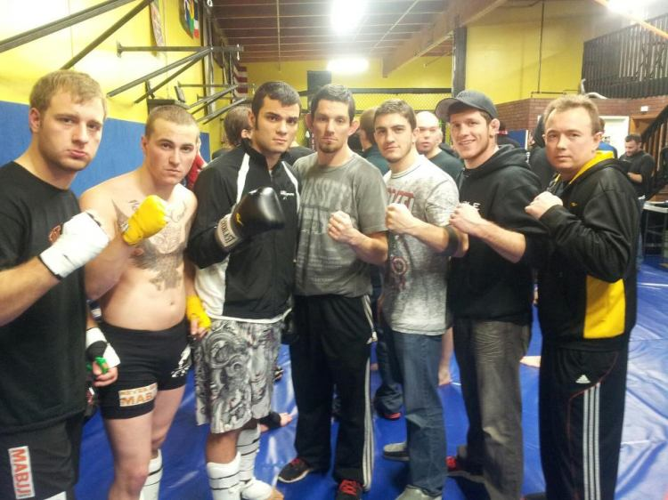 PMA Fighters At Exhibition Kickboxing Event.